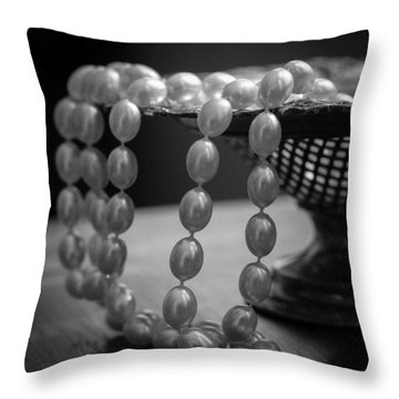 The Drama Of Pearls Throw Pillow