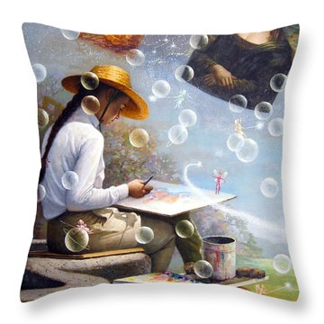 The Dream Is Reality Throw Pillow