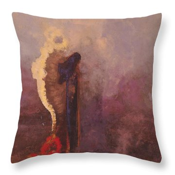 The Dream  Throw Pillow by Odilon Redon