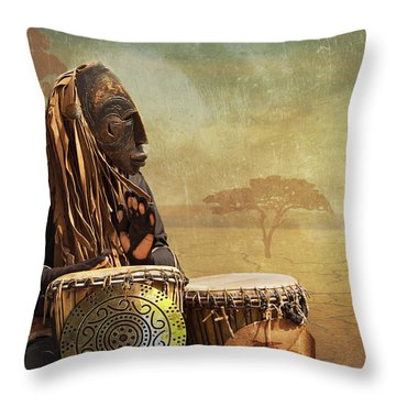 The Dream Of His Drums Throw Pillow