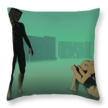 The Dream Of Shame Throw Pillow