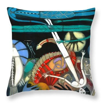 The Dream Of The Fish Throw Pillow by Annael Anelia Pavlova