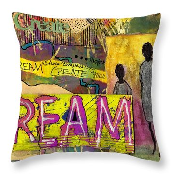 The Dream Trio Throw Pillow by Angela L Walker