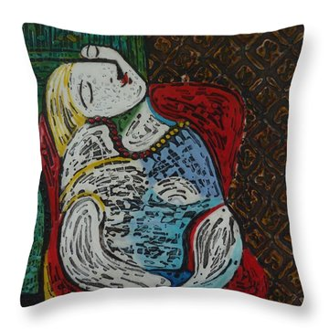 The Dream Walker -le Reve Zombi  Throw Pillow