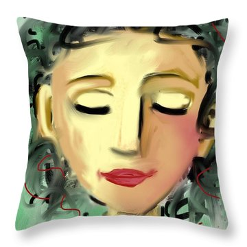 The Dreamer Throw Pillow by Elaine Lanoue