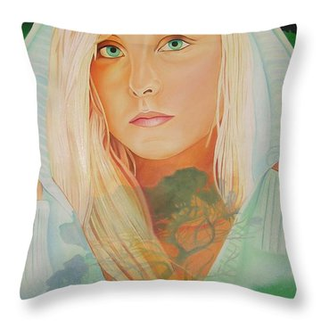 Throw Pillow featuring the painting The Dreaming Tree by Joshua Morton