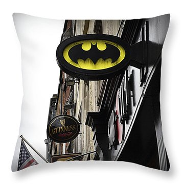 The Drink Of Super Heroes Throw Pillow by Nadalyn Larsen