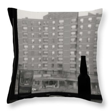 The Drink Words And Me Throw Pillow