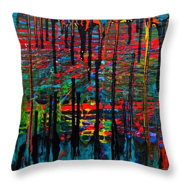The Drip Throw Pillow