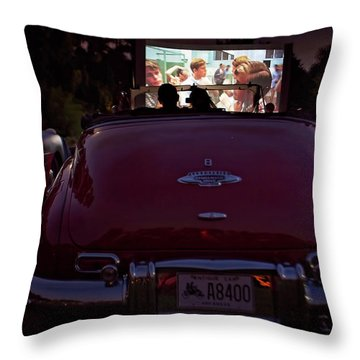 The Drive- In Throw Pillow