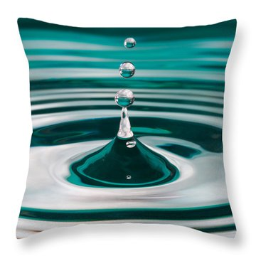 The Drop Throw Pillow by Yvette Van Teeffelen