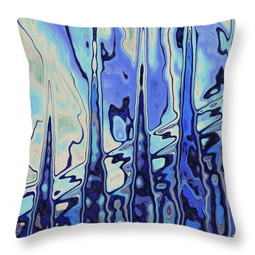 Throw Pillow featuring the digital art The Drowsy Conversation by Wendy J St Christopher