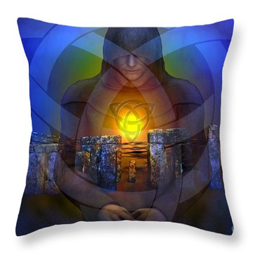 Throw Pillow featuring the digital art The Druid by Shadowlea Is