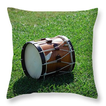 The Drum Throw Pillow by Eric Liller