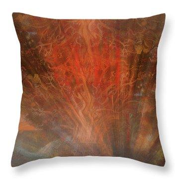 The Drumbeat Rising Throw Pillow
