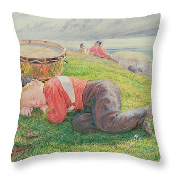 The Drummer Boy's Dream Throw Pillow by Frederic James Shields