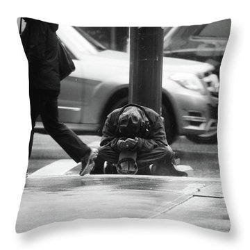 The Dry People Throw Pillow by Empty Wall