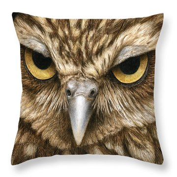 The Dubious Owl Throw Pillow