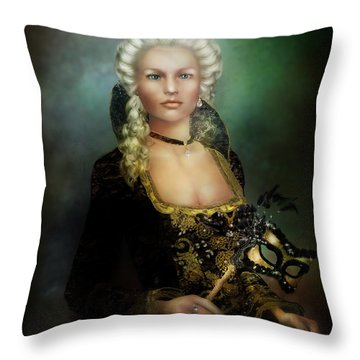 The Duchess Throw Pillow by Mary Hood