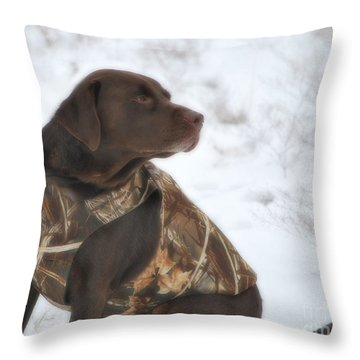 The Duck Dog Iv Throw Pillow