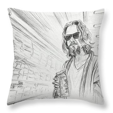 The Dude Abides Throw Pillow