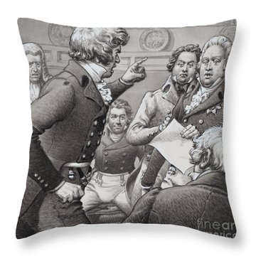 The Duke Of Cumberland, Shown Clashing In Public With His Brothers Throw Pillow