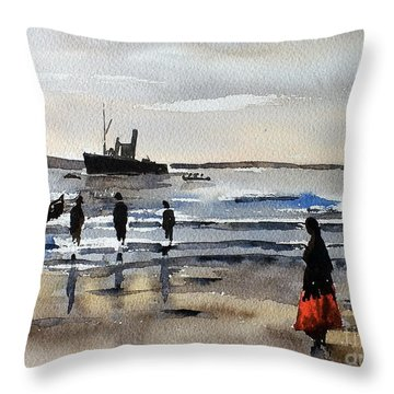 The Dun Aengus Off Aran, Galway Throw Pillow