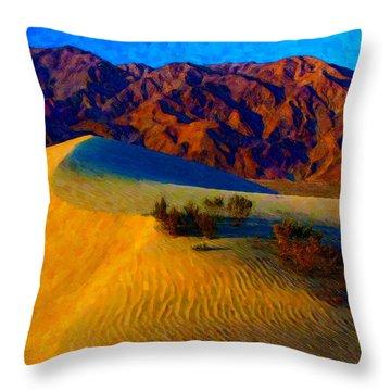 The Dunes At Dusk Throw Pillow