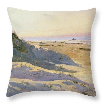The Dunes Sonderstrand Skagen Throw Pillow by Holgar Drachman