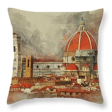 The Duomo Florence Throw Pillow