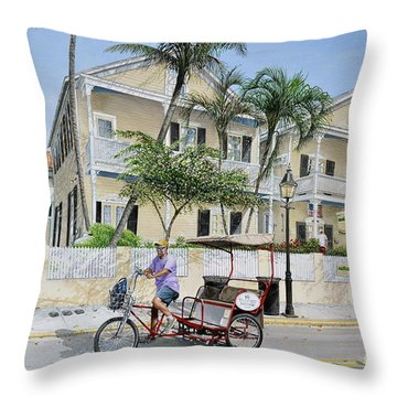The Duval House, Key West, Florida Throw Pillow by Bob George