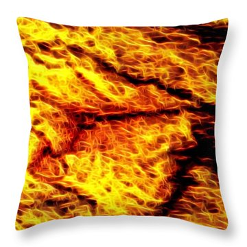 The Eagle Is Angry Throw Pillow