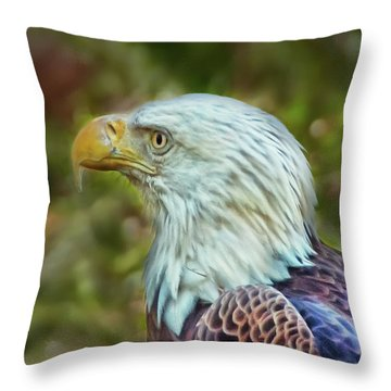 Throw Pillow featuring the photograph The Eagle Look by Hanny Heim