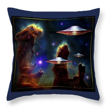 The  Eagle  Nebula  Throw Pillow