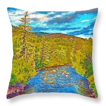 The Eagle River In Early Fall Throw Pillow