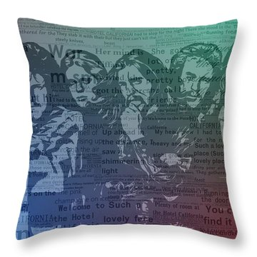 The Eagles Hotel California Throw Pillow