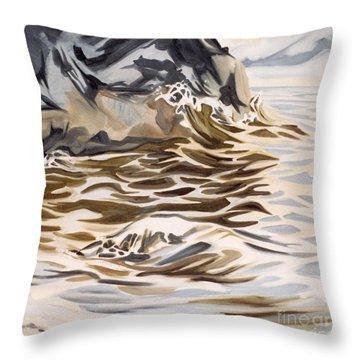The Eagles Nest At Gower Point Throw Pillow