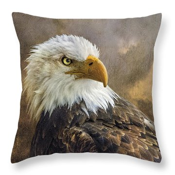 The Eagle's Stare Throw Pillow