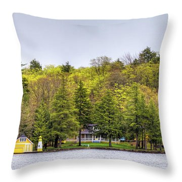 The Early Greens Of Spring Throw Pillow by David Patterson