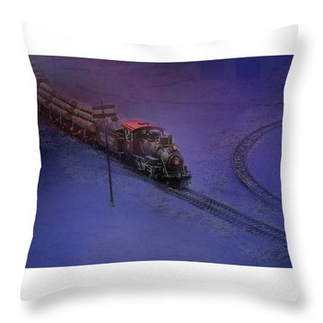 The Early Train Throw Pillow