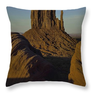 The Earth Says Hello Throw Pillow by Rob Wilson