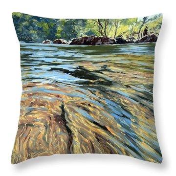 The East Dart River Dartmoor Throw Pillow