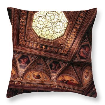 Throw Pillow featuring the photograph The East Room Ceiling by Jessica Jenney