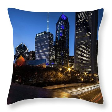 The East Side Skyline Of Chicago  Throw Pillow