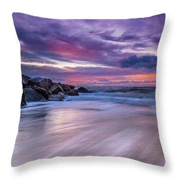 The Edge - Folly Beach, Sc Throw Pillow