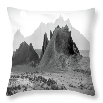 The Edge Throw Pillow by Mike McGlothlen