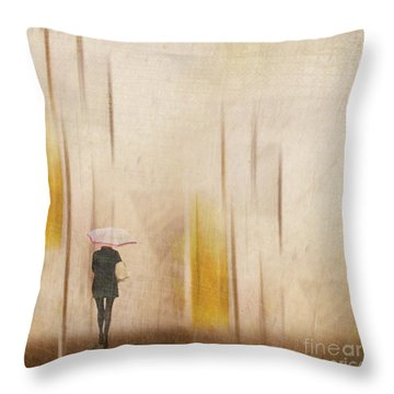 The Edge Of Autumn Throw Pillow
