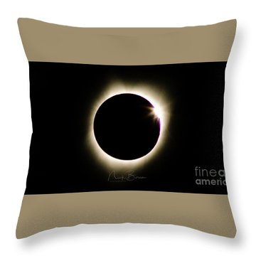 The Edge Of Totality 2 Throw Pillow