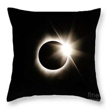 The Edge Of Totality Throw Pillow