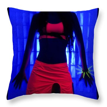 The Effects Of Uv On Reflective Clothing Throw Pillow
